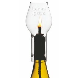 Wine Chimney Ceramic Candle Set w/Clear Dome
